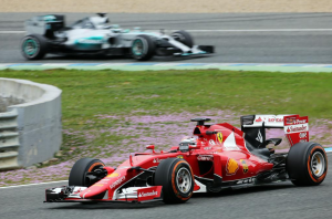 Vettel and Rosberg, Jerez Test - Credit F1Weekends