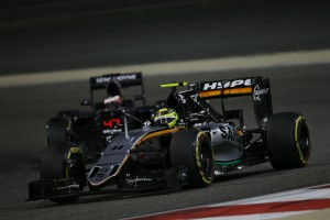 Sergio Perez at the Bahrain Grand Prix - Credit: Force India F1 Team