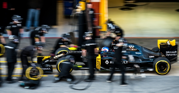 Renault, pre-season F1 testing 2016. Photo credit: Michael Potts