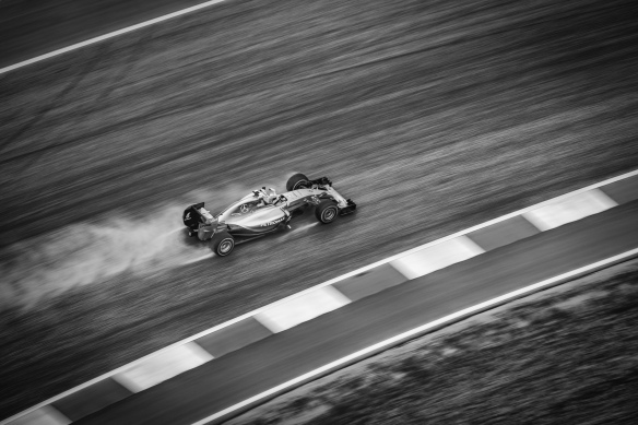 Nico Rosberg in the 2015 US Grand Prix. Photo credit Dave Wilson